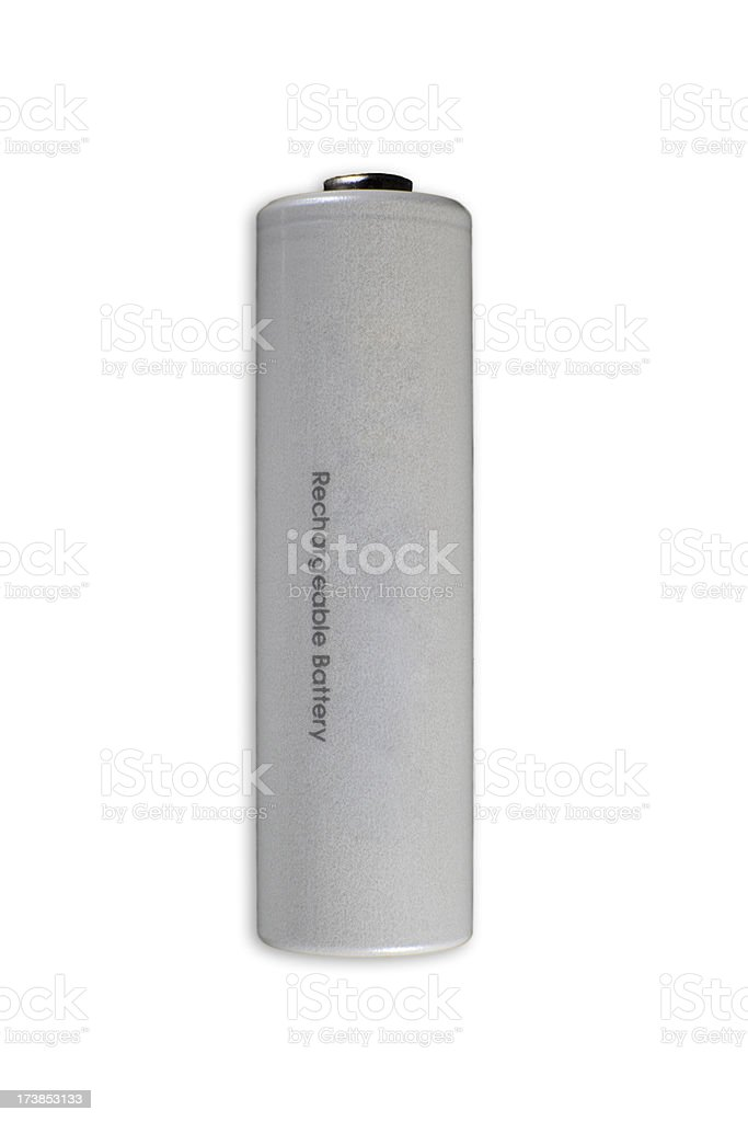 Isolated rechargeable battery with clipping path royalty-free stock photo