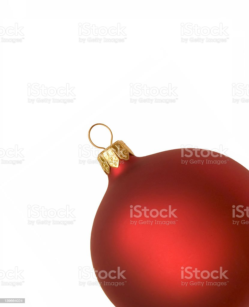 Isolated red christmas bauble royalty-free stock photo
