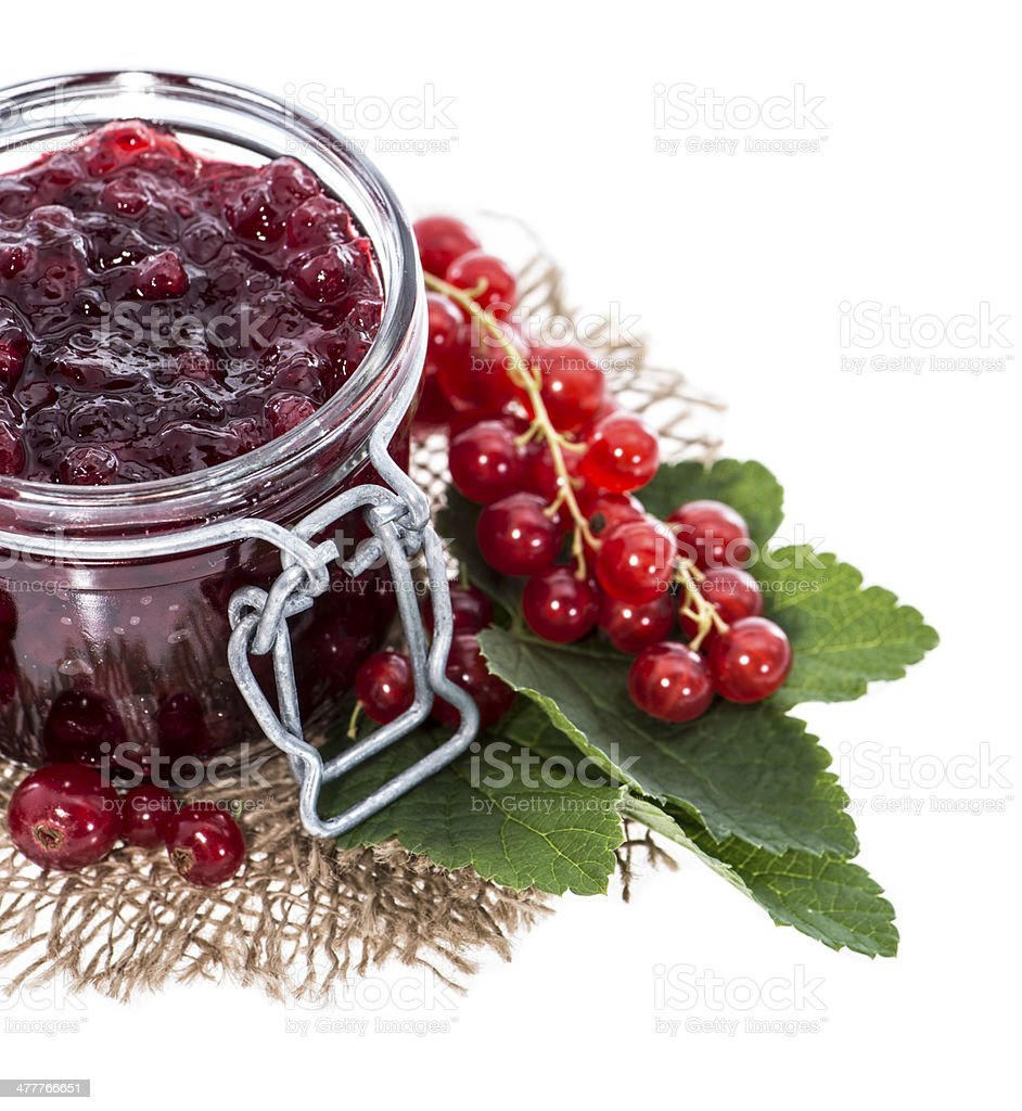 Isolated Red Currant Jam royalty-free stock photo