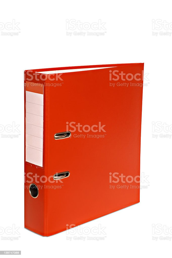 Isolated red file royalty-free stock photo