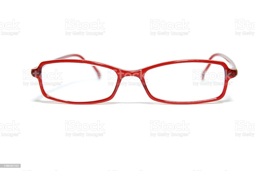 Isolated Red Glasses royalty-free stock photo