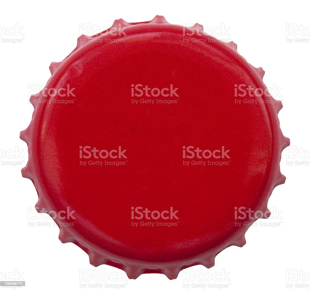 Isolated Red Metal Bottle Cap stock photo