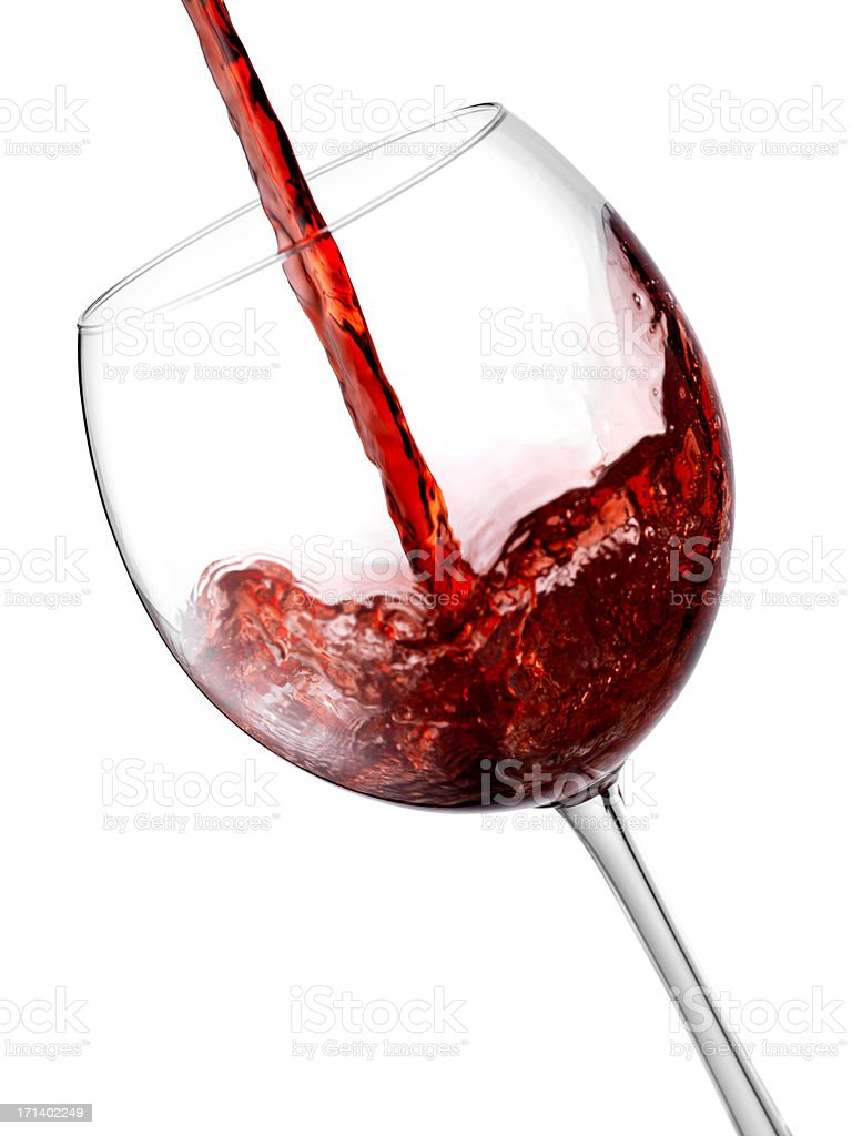 Isolated red wine royalty-free stock photo