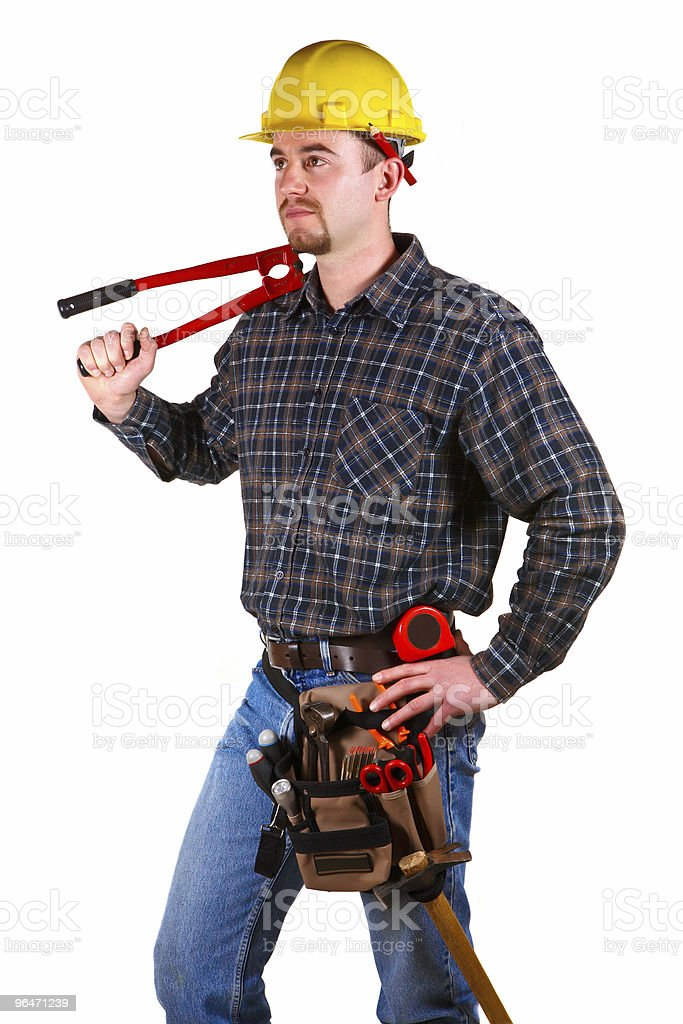 isolated repair man royalty-free stock photo