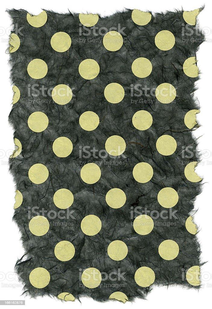 Isolated Rice Paper Texture - Green Polka Dots XXXXL royalty-free stock photo