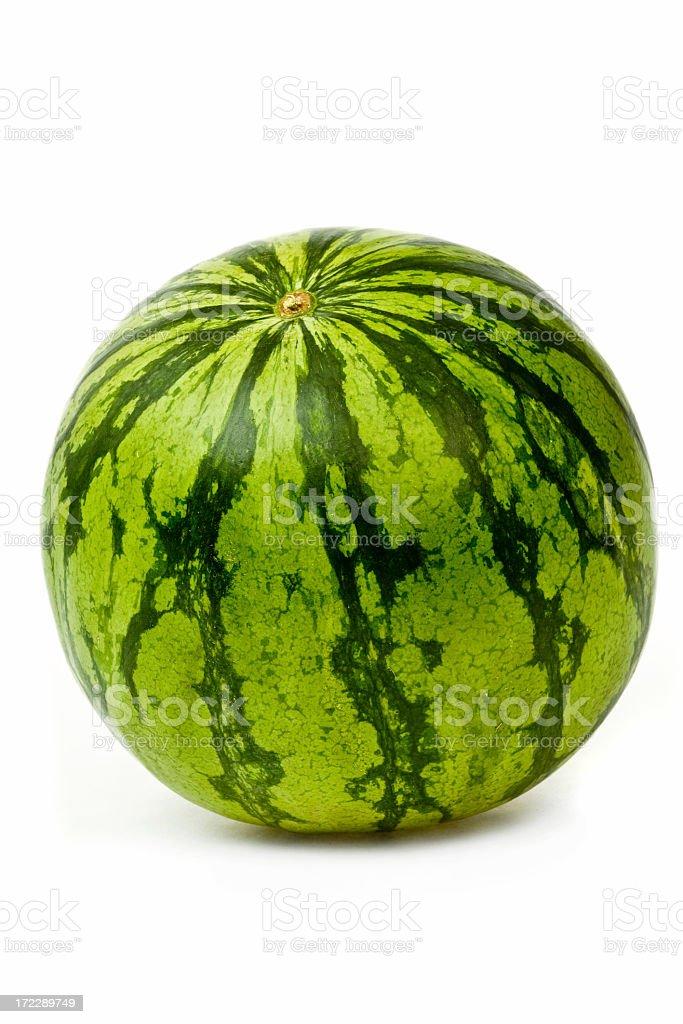 Isolated ripe seedless watermelon royalty-free stock photo