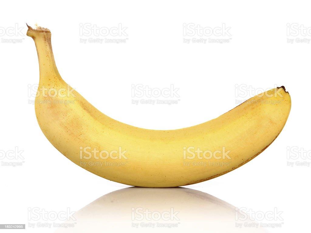 Isolated Ripe Yellow Banana - XXLarge royalty-free stock photo