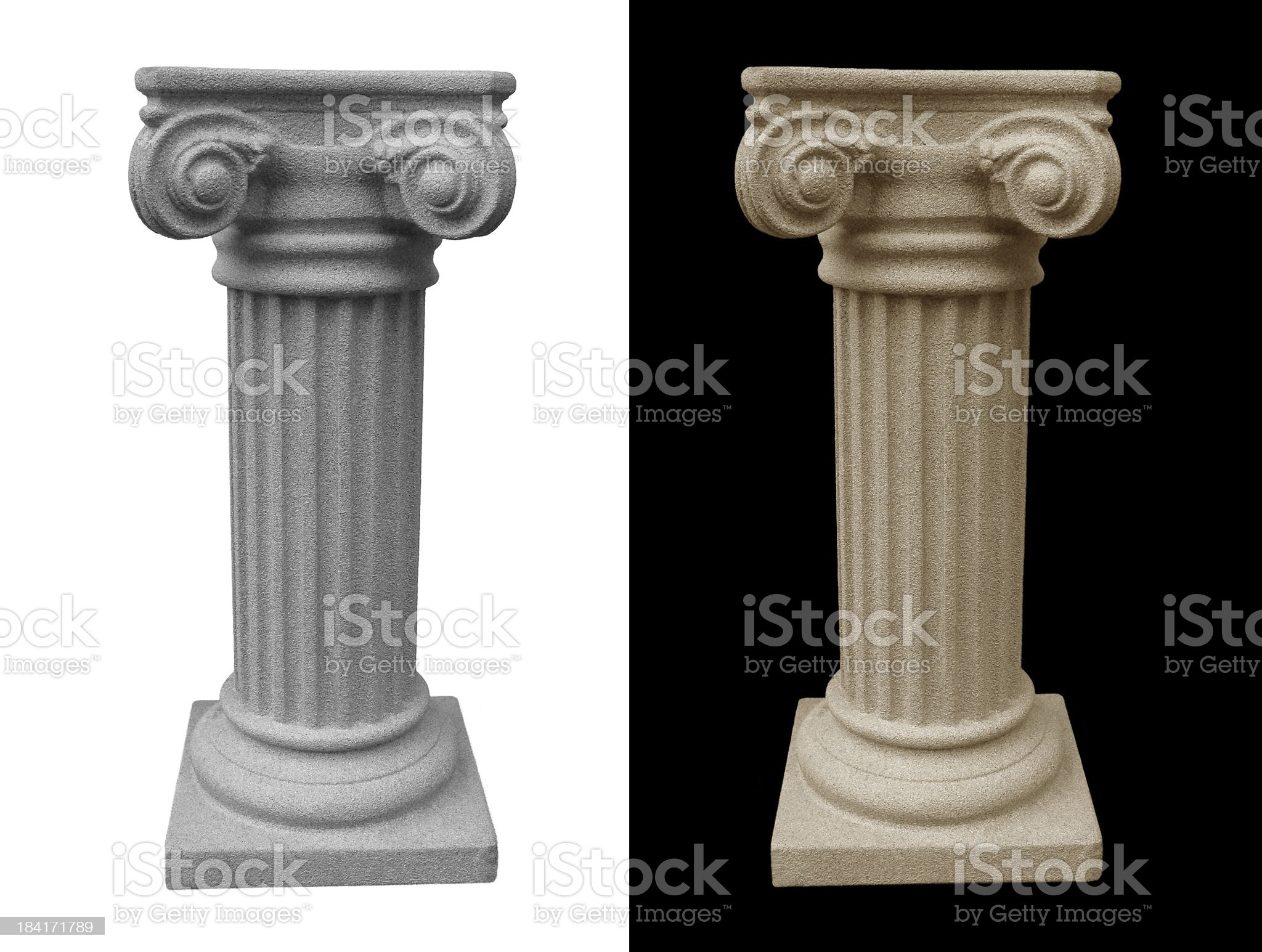 Isolated Roman Pillar Pedestal royalty-free stock photo