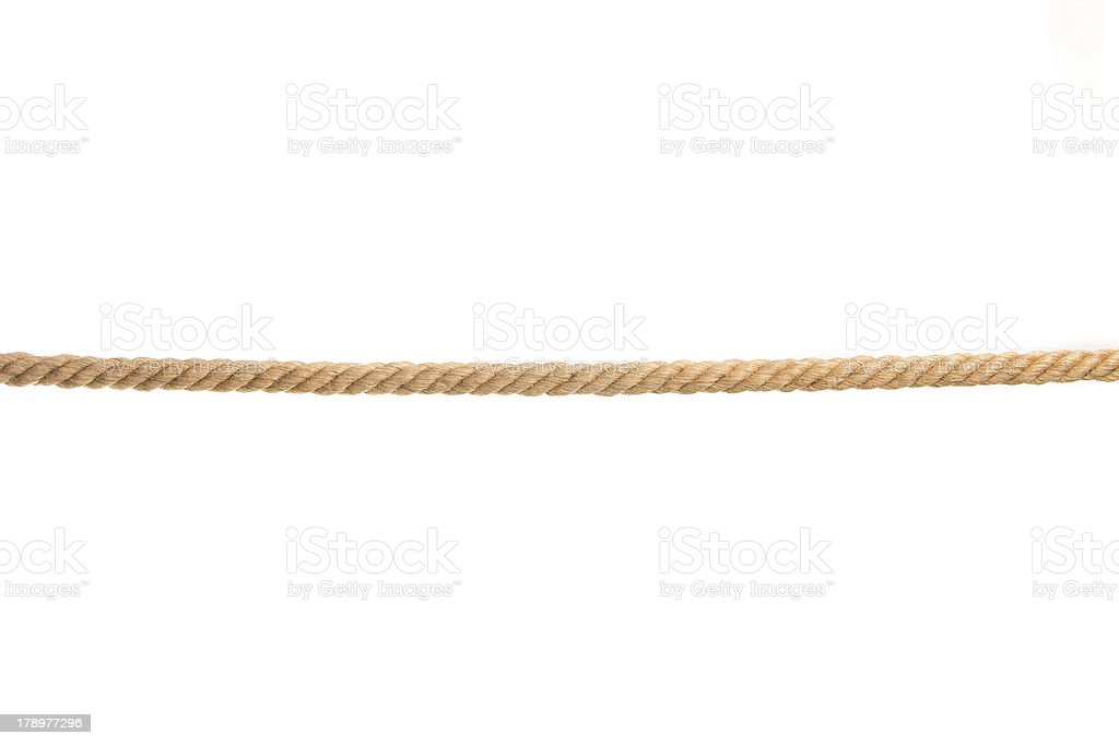 isolated rope stock photo
