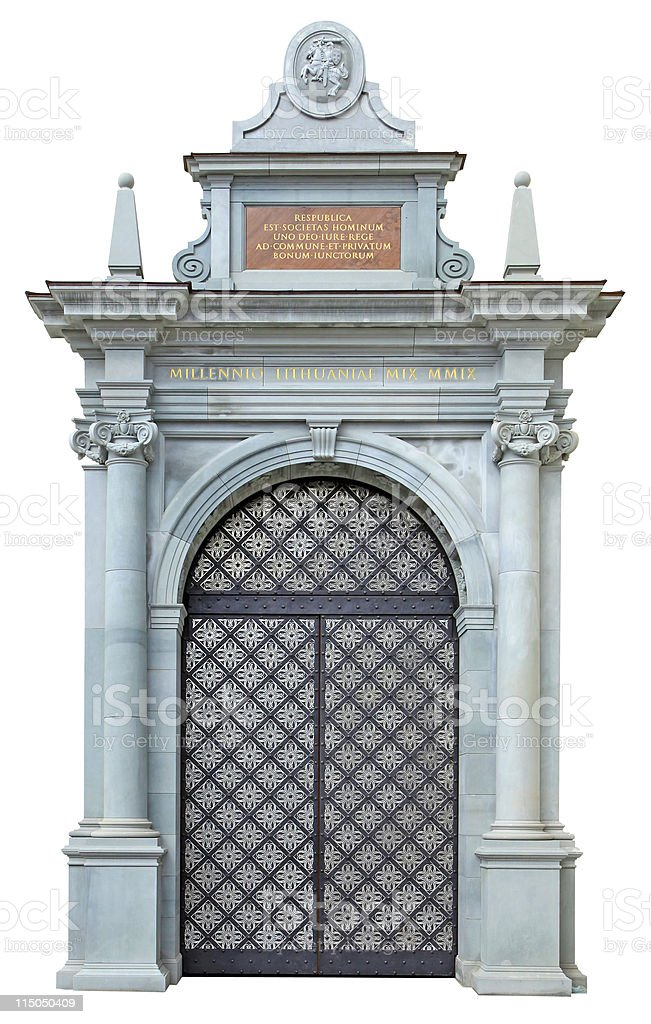 Isolated royal castle entrance royalty-free stock photo