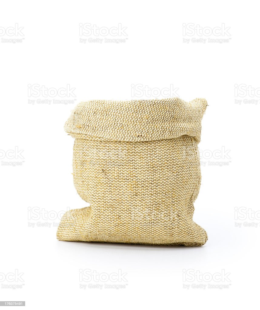 isolated sack bag on white royalty-free stock photo