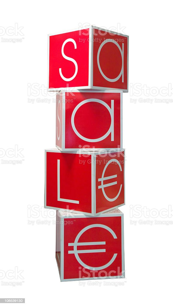 Isolated Sale sign royalty-free stock photo