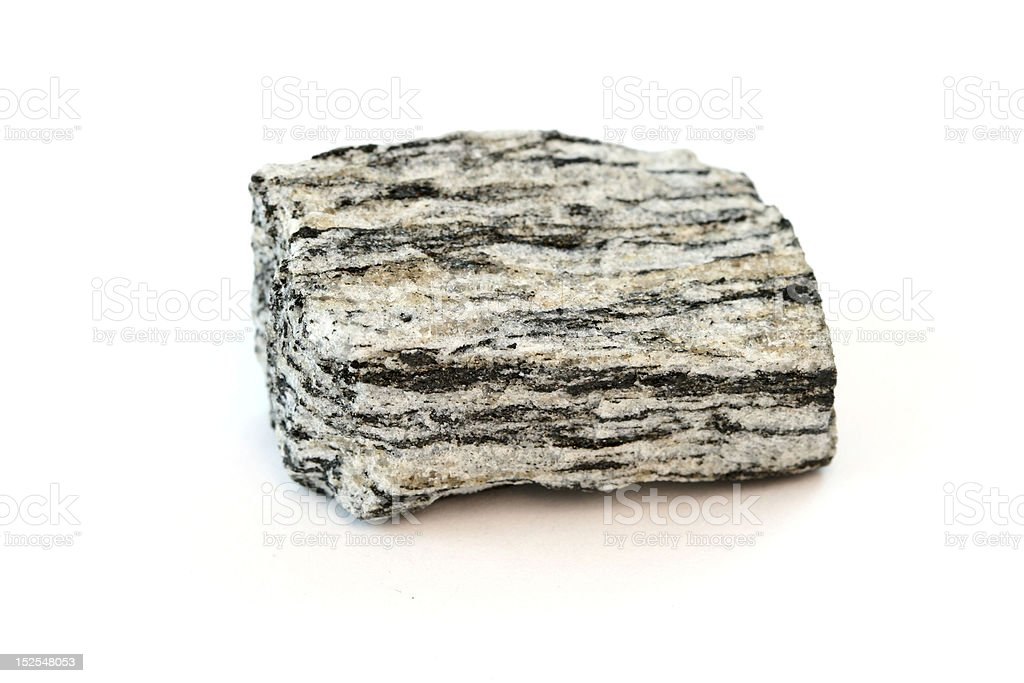 Isolated sample of Gneiss stock photo