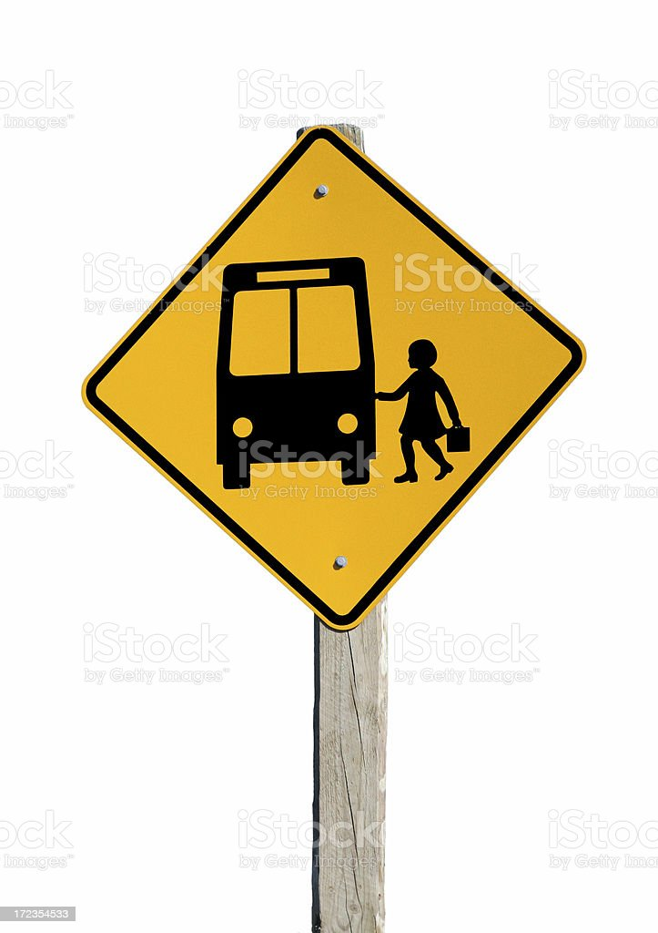 Isolated School Bus royalty-free stock photo