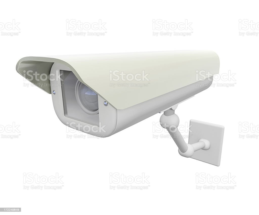 Isolated security camera royalty-free stock photo