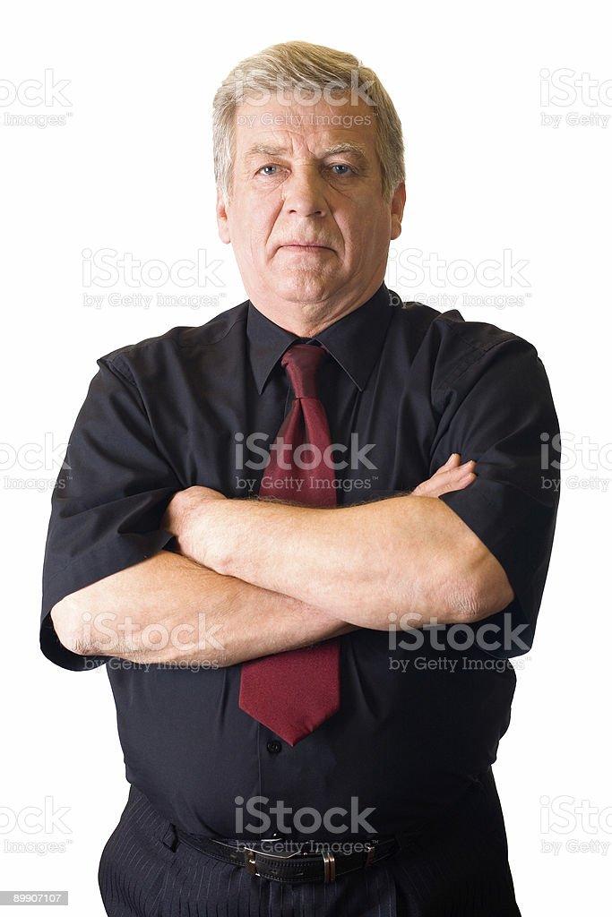 Isolated senior successful businessman or teacher royalty-free stock photo