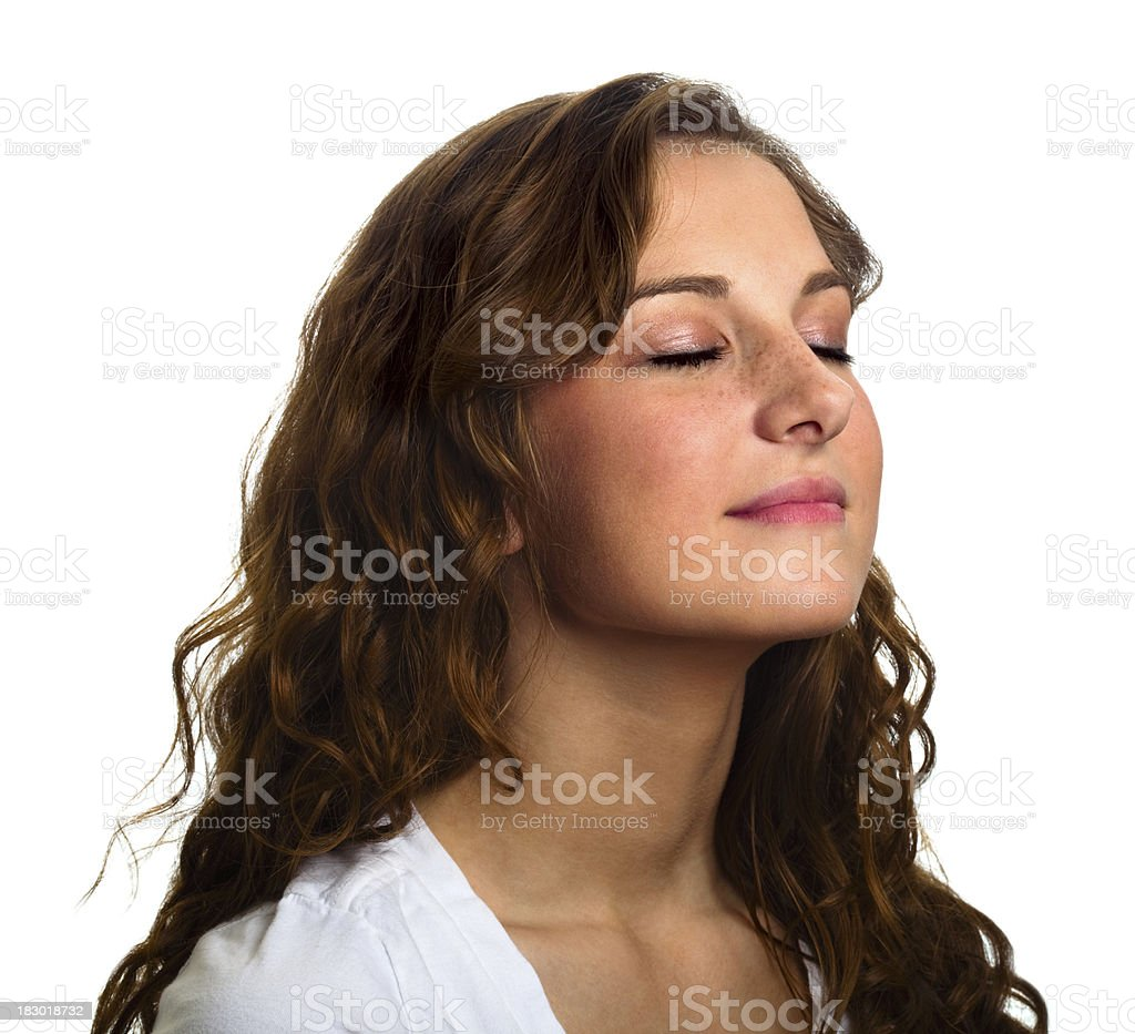Isolated Serene Woman Portrait royalty-free stock photo