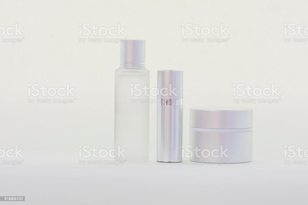 isolated serum bottles stock photo