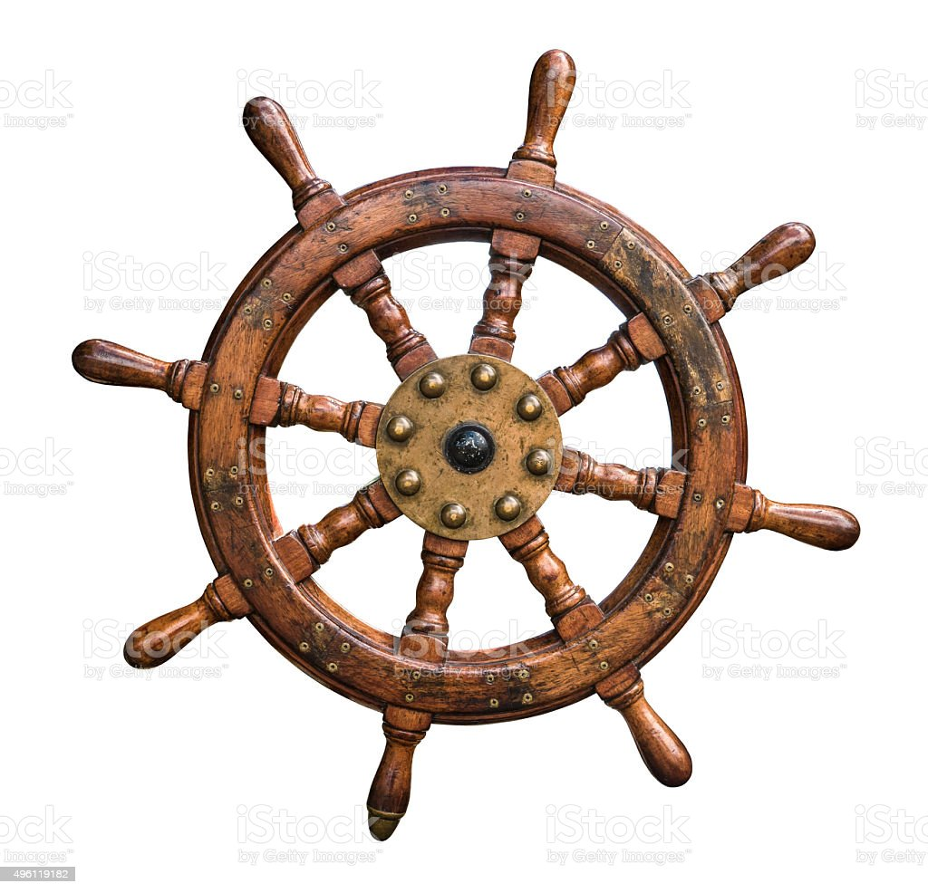 Isolated Ships Wheel stock photo