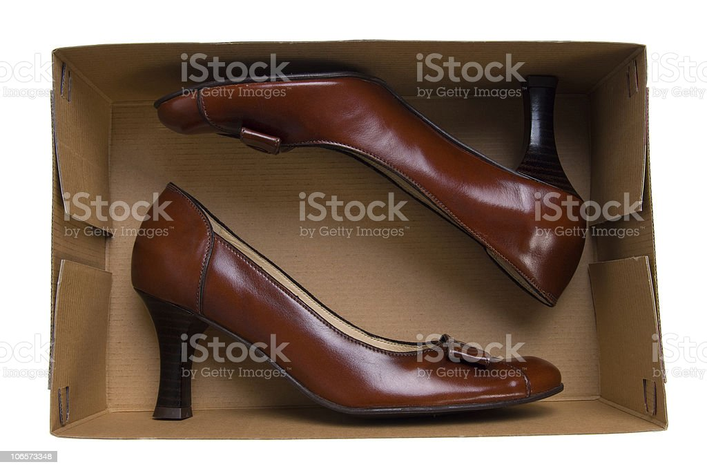 isolated shoes stock photo