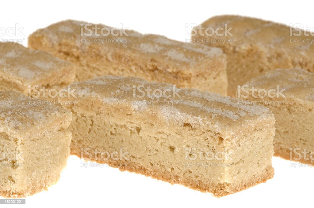 Isolated shortbread cookies on white background royalty-free stock photo
