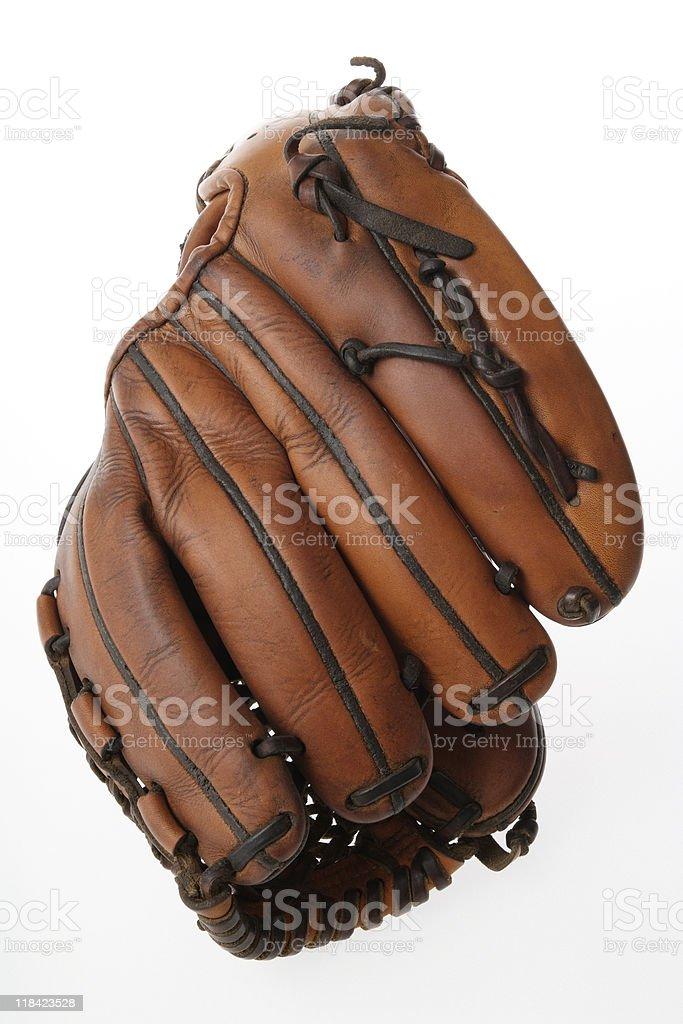 Isolated shot of Baseball glove on white background royalty-free stock photo