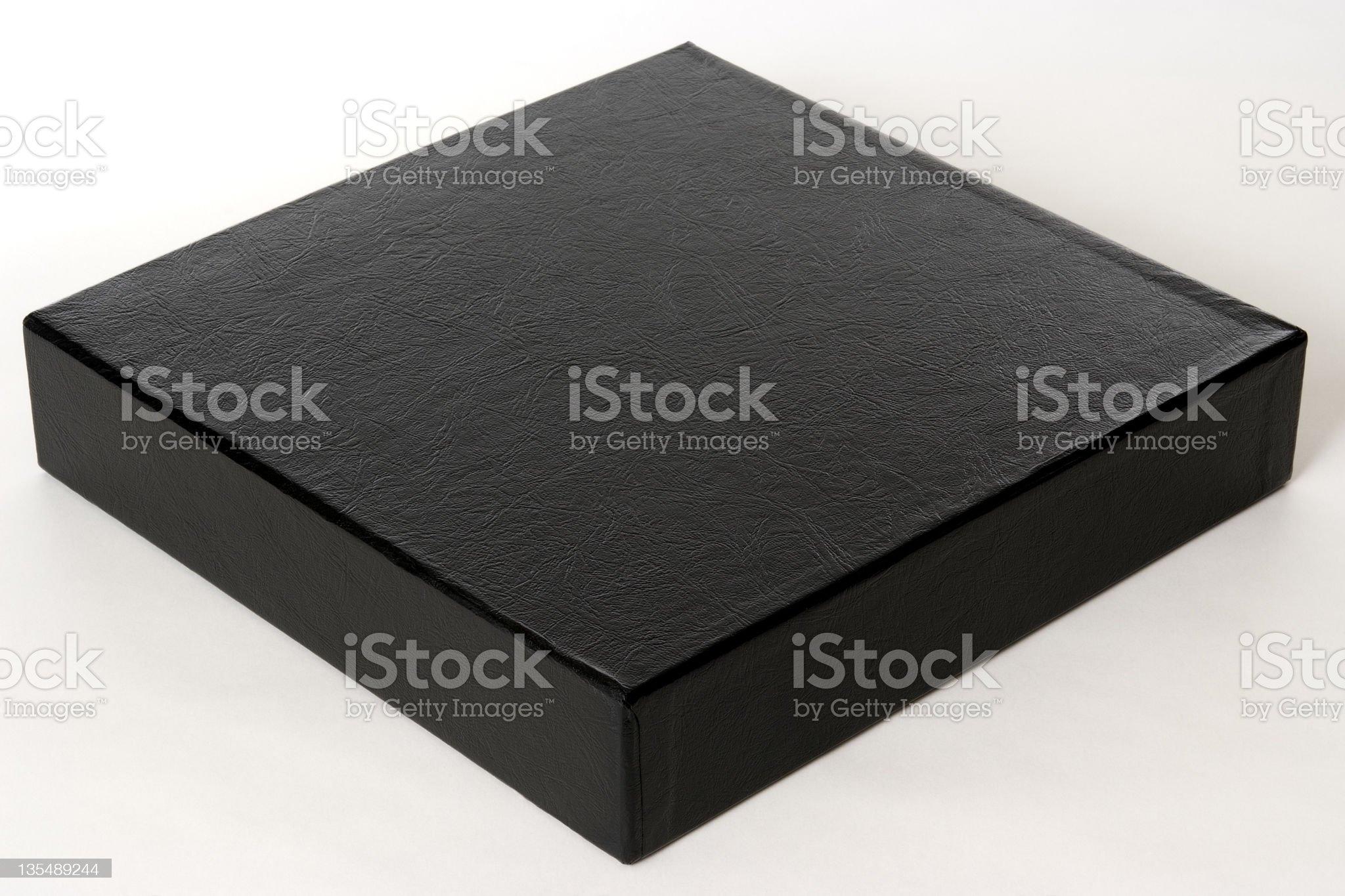 Isolated shot of blank black box on white background royalty-free stock photo