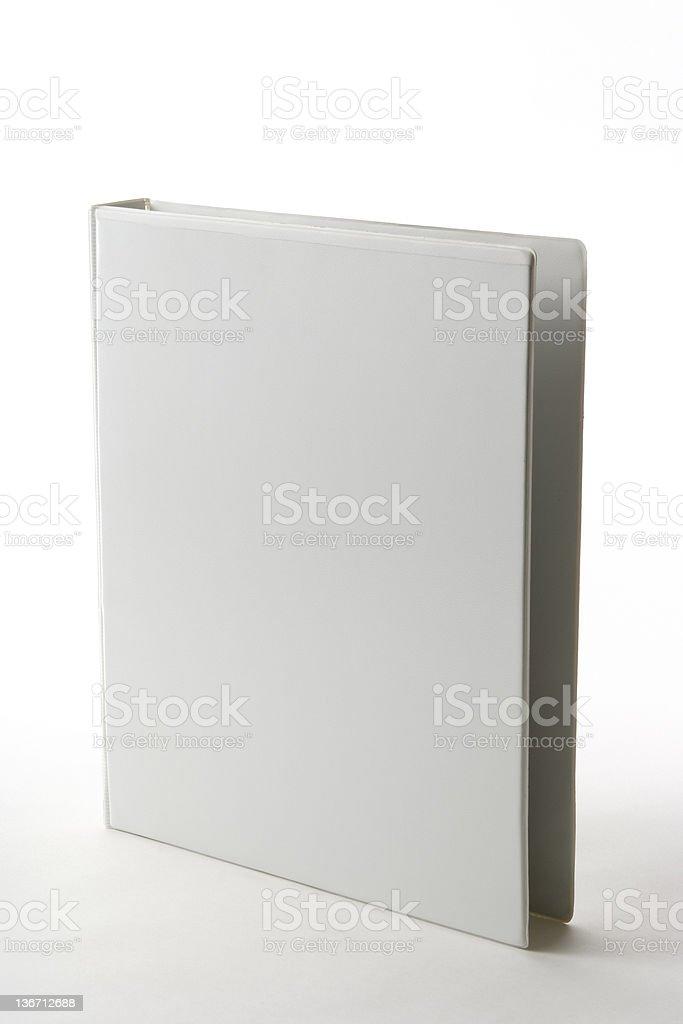 Isolated shot of blank white ring binder on white background royalty-free stock photo