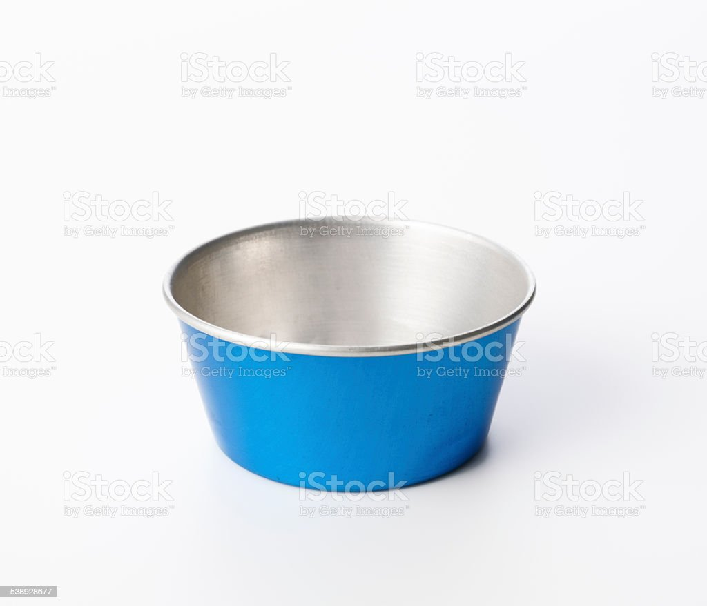 Isolated shot of children's toy basin on white background stock photo