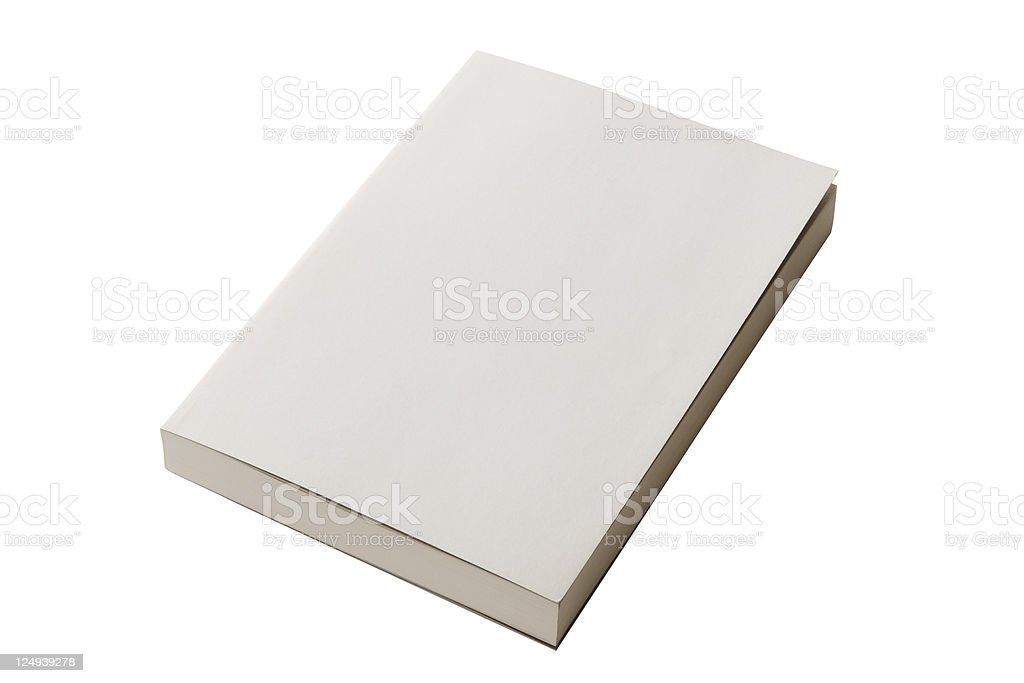 Isolated shot of closed blank book on white background royalty-free stock photo