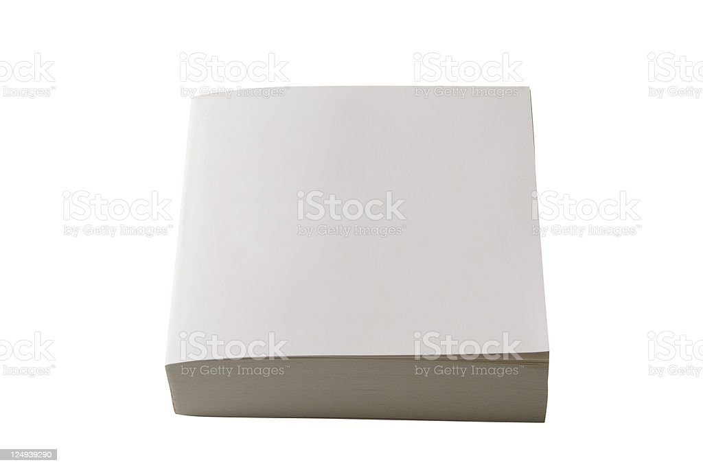 Isolated shot of closed square blank book on white background royalty-free stock photo