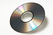 Isolated shot of Compact Disc on white background
