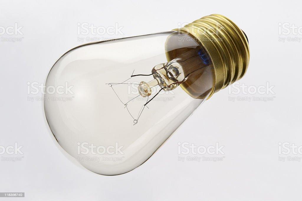 Isolated shot of light bulb on white background royalty-free stock photo