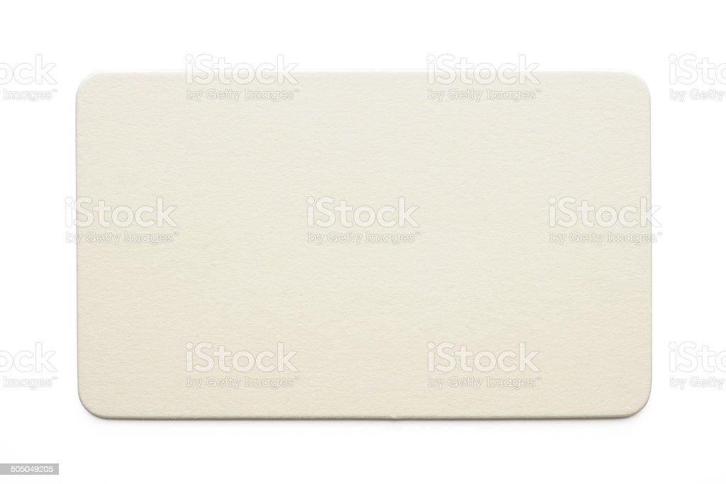 Isolated shot of rectangular blank label on white background stock photo