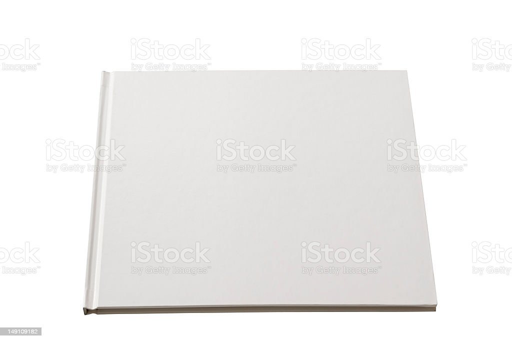 Isolated shot of square blank book on white background royalty-free stock photo
