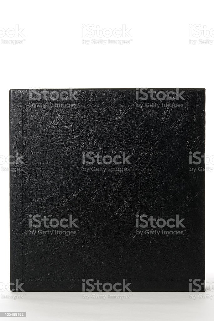 Isolated shot of standing blank black box on white background royalty-free stock photo