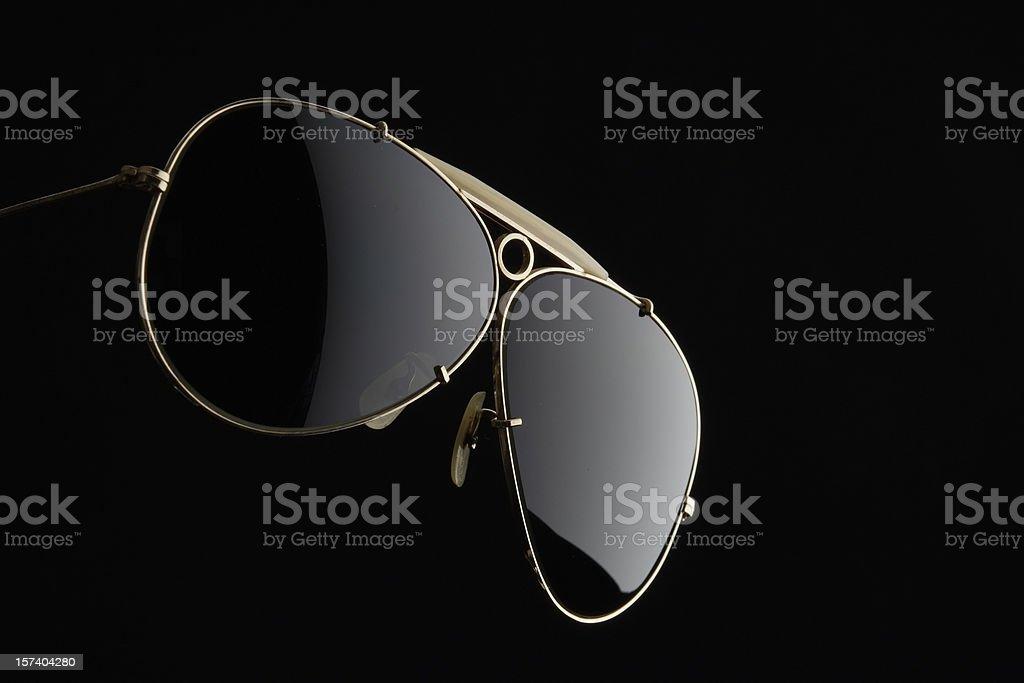 Isolated shot of Sunglasses on black background royalty-free stock photo