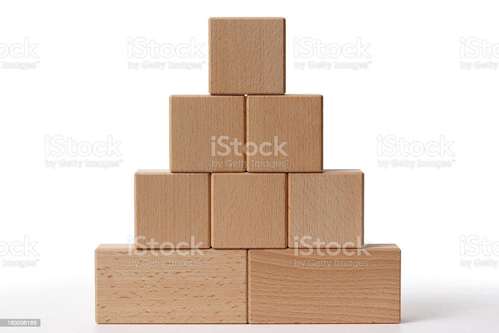 Isolated shot of toy blocks on white background stock photo
