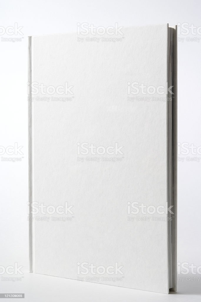Isolated shot of white blank book on white background royalty-free stock photo