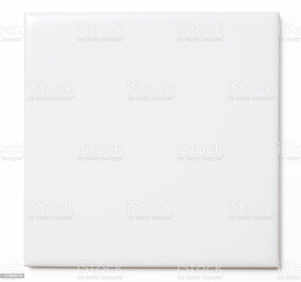 Isolated shot of white tile on white background royalty-free stock photo
