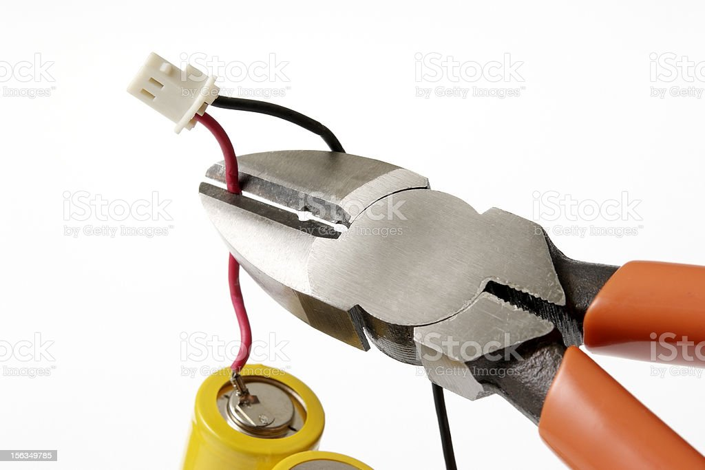 Isolated shot of wire cutter on white background royalty-free stock photo