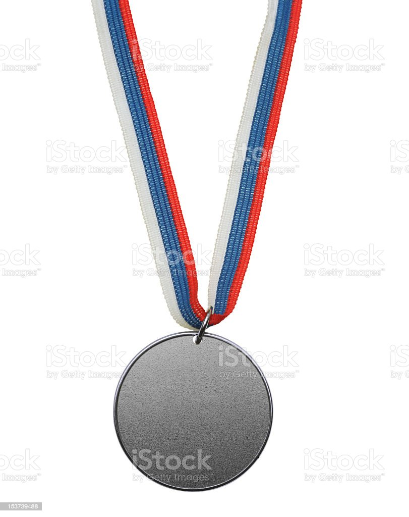 Isolated silver medal royalty-free stock photo