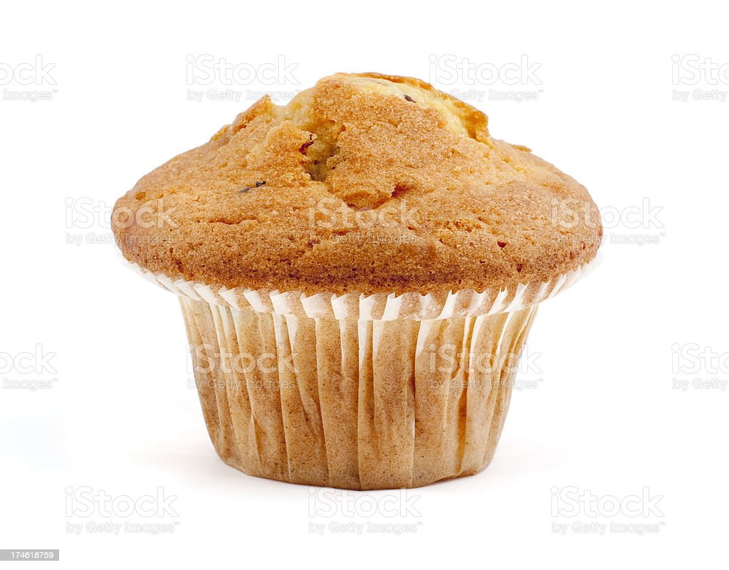 isolated single muffin royalty-free stock photo