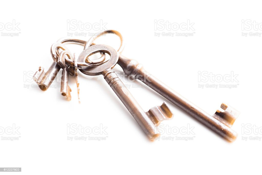 Isolated Skeleton Keys stock photo