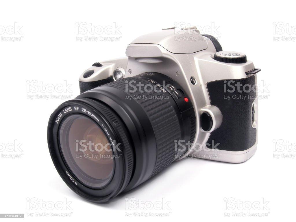 Isolated SLR camera stock photo