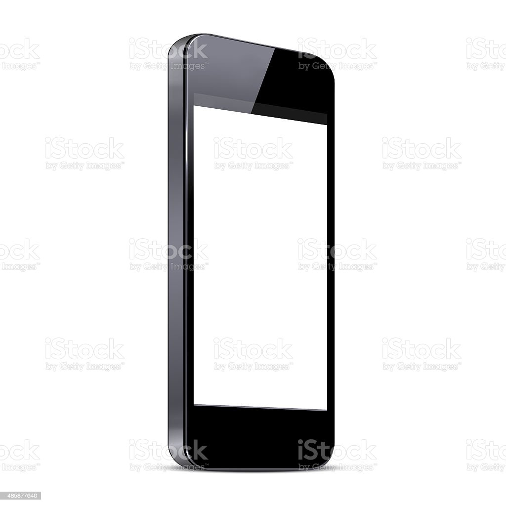 Isolated smart phone stock photo