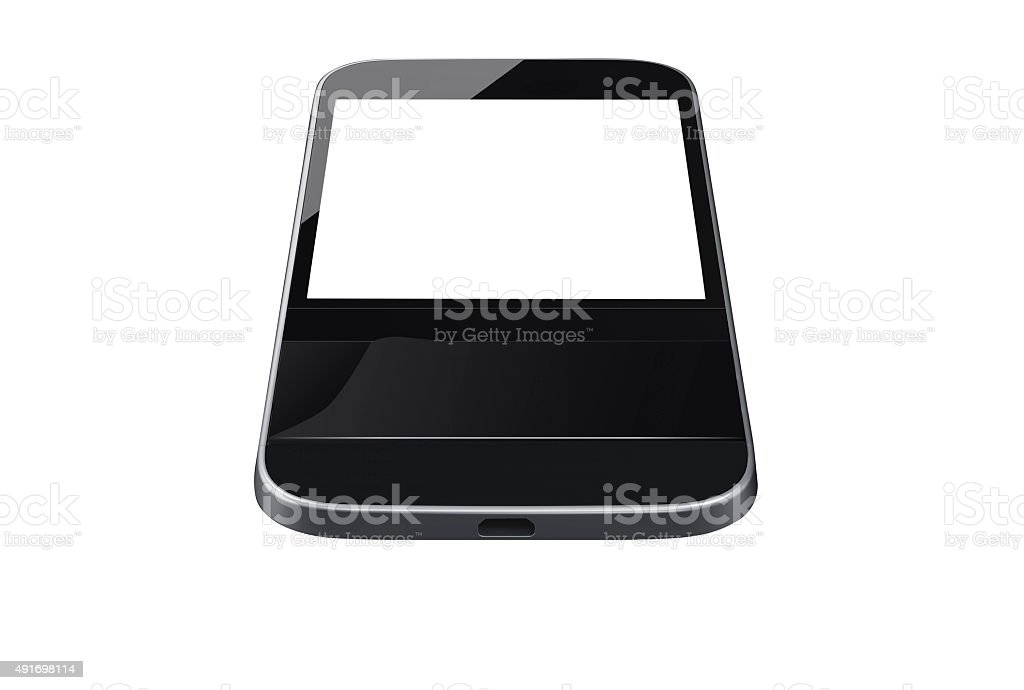 Isolated smart phone with keyboard stock photo