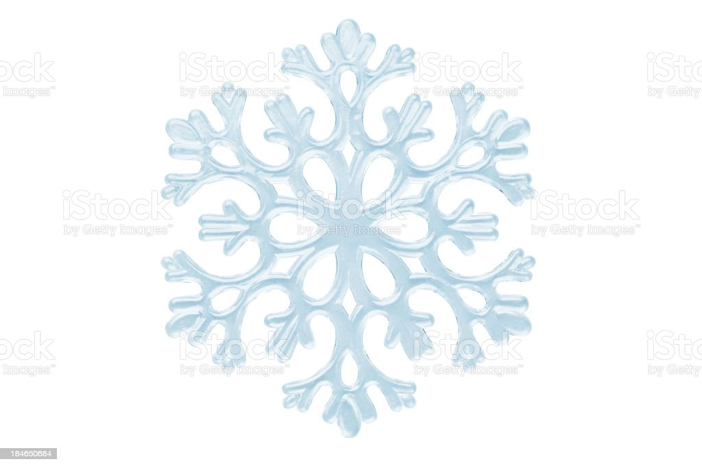 Isolated Snowflake On White stock photo