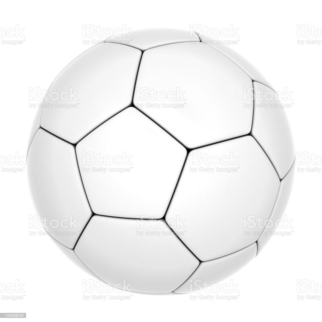 Isolated soccer ball [clipping path] royalty-free stock vector art