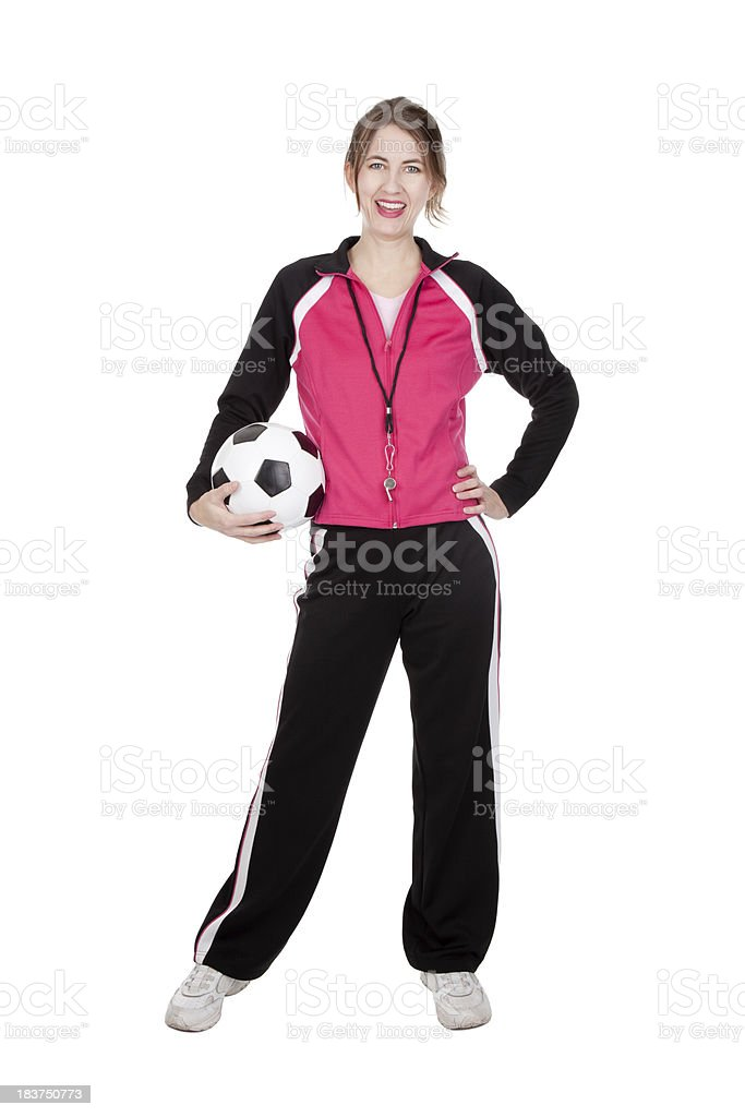 Isolated Soccer Coach stock photo